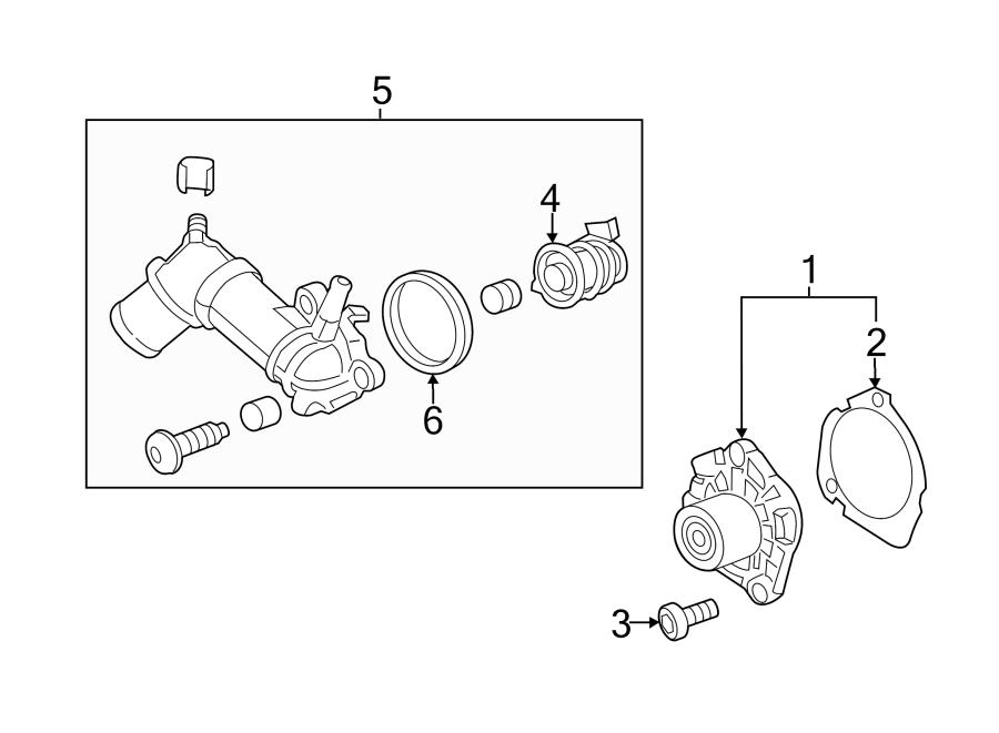 Chevrolet Cruze Engine Water Pump Gasket. 2.0 LITER TURBO