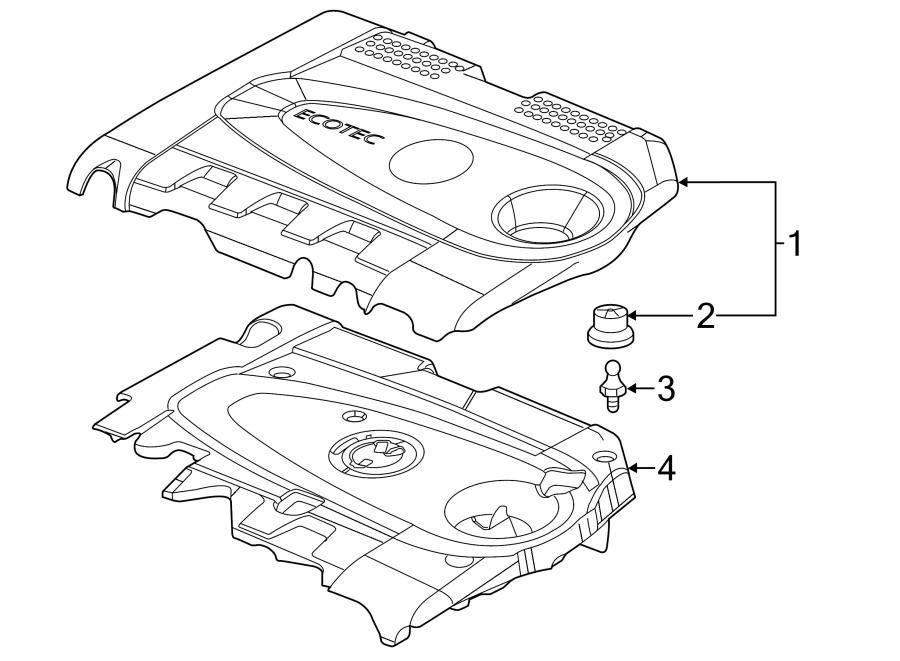 Chevrolet Cruze Engine Cover. 2.0 LITER TURBO DIESEL