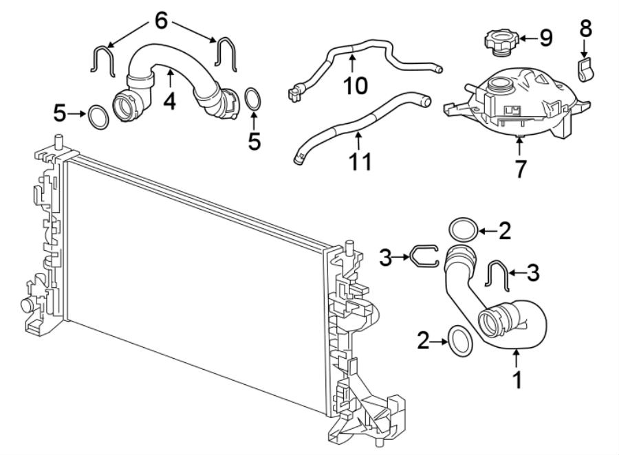 Chevrolet Cruze Radiator Coolant Hose (Upper). 1.6 LITER