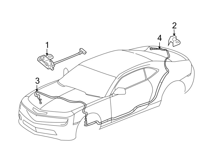 Chevrolet Camaro Antenna Cable. COUPE, W/O DIGITAL AUDIO