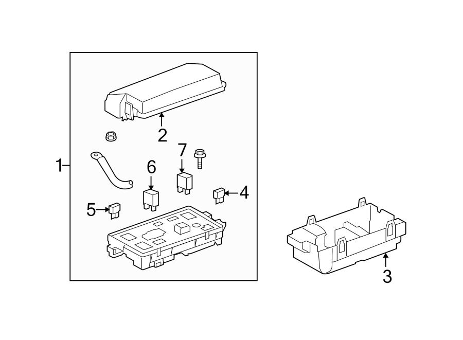 Chevrolet Camaro Fuse Box. ENGINE COMPARTMENT, w/ZL1