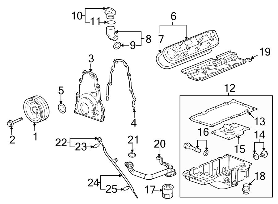 Chevrolet Suburban 3500 HD Seal. Oil. Tube. Engine. Gasket