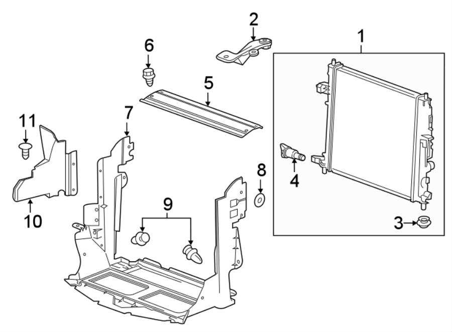 Chevrolet Camaro Radiator Support Panel (Front, Upper