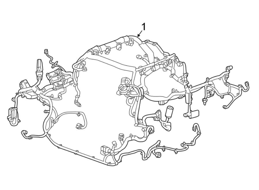 Chevrolet Camaro Engine harness. Engine Wiring Harness. W