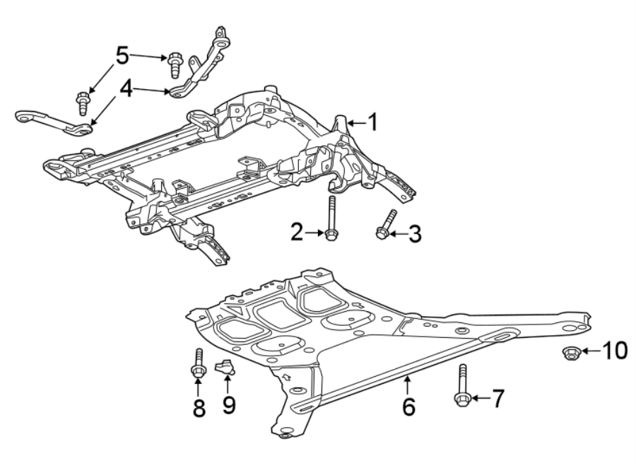 Chevrolet Camaro Suspension Subframe Crossmember. LT, LS W