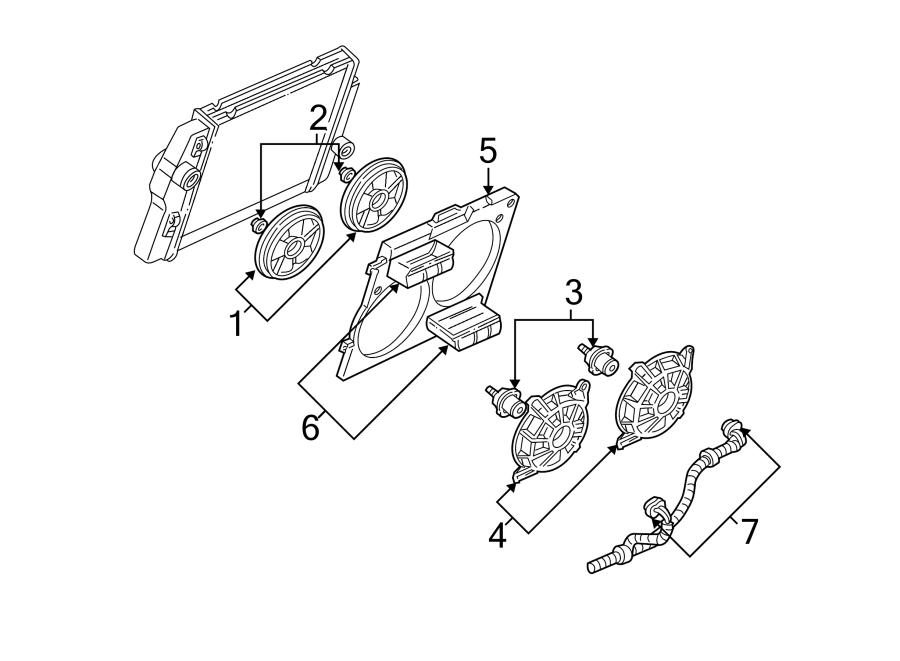 Chevrolet Camaro Engine Cooling Fan Motor. Left, Liter