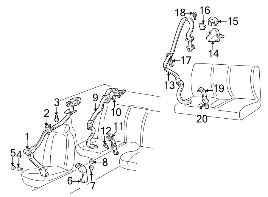 Chevrolet Camaro Seat Belt Lap and Shoulder Belt Bolt