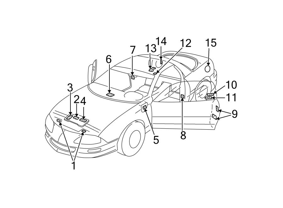 Chevrolet Camaro Engine Decal. Belt routing, 5.7 liter