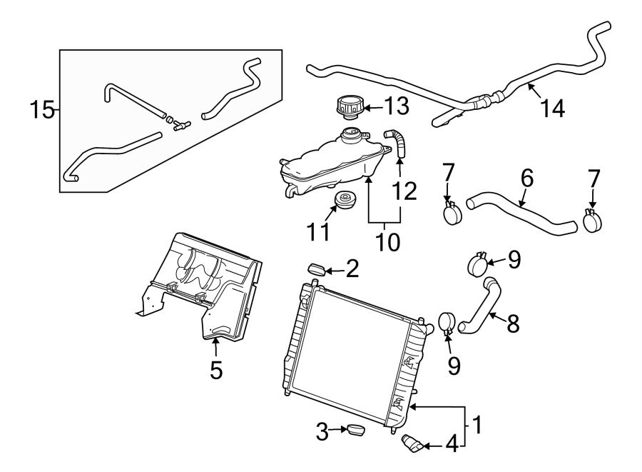 Chevrolet Corvette Radiator Support Baffle. W/O