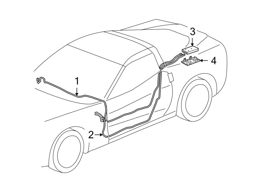 Chevrolet Corvette Antenna Cable. W/DIGITAL AUDIO