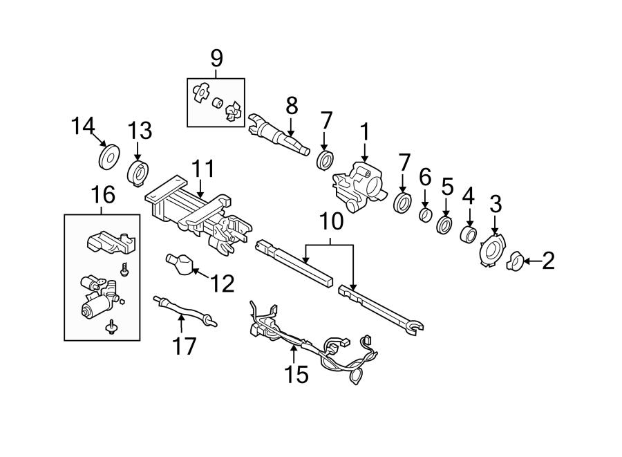 Chevrolet Corvette Steering Column Tube. Manual trans