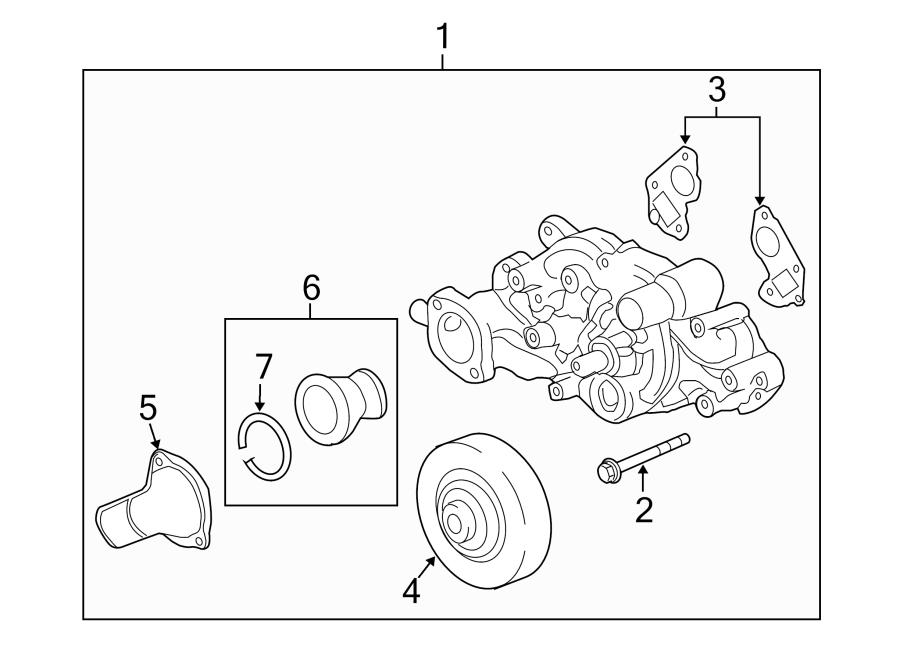 Chevrolet Corvette Engine Water Pump Pulley. W
