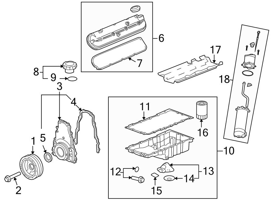 Chevrolet Corvette Engine Crankshaft Pulley. Corvette; 6