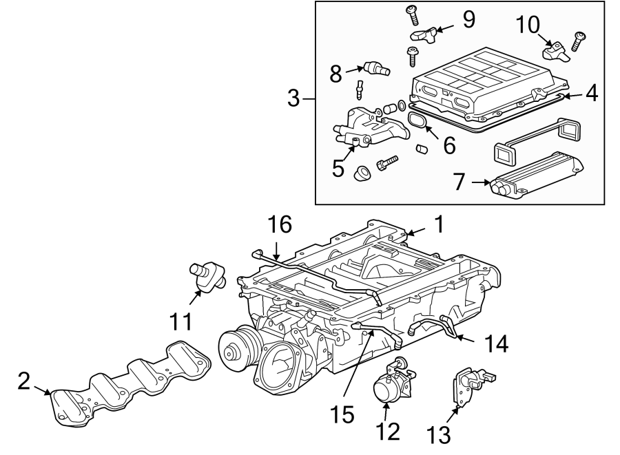 Chevrolet Corvette Engine Intake Manifold Gasket. LITER