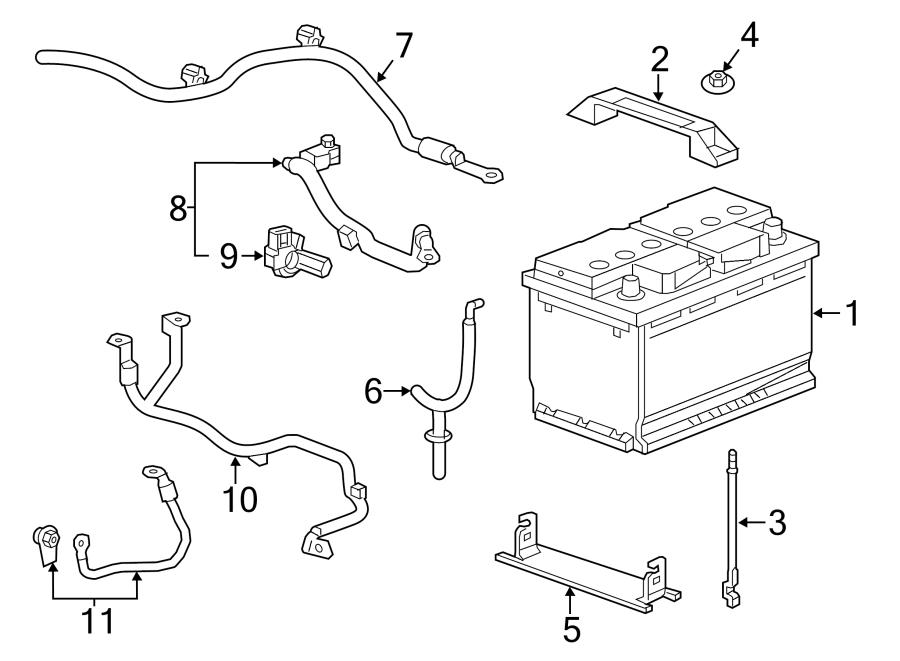 Chevrolet Corvette Starter Cable. Starter solenoid
