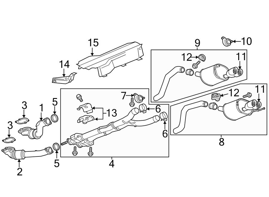 Chevrolet Corvette Exhaust Muffler. Sys, Supercharger