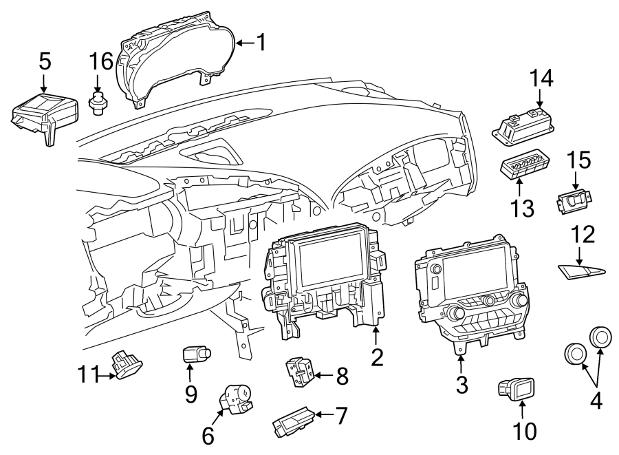Chevrolet Corvette Hvac temperature control panel