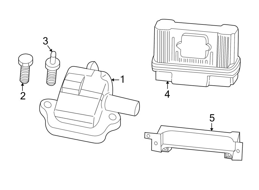 Chevrolet Corvette Engine Control Module. 5.7 liter. 5.7L