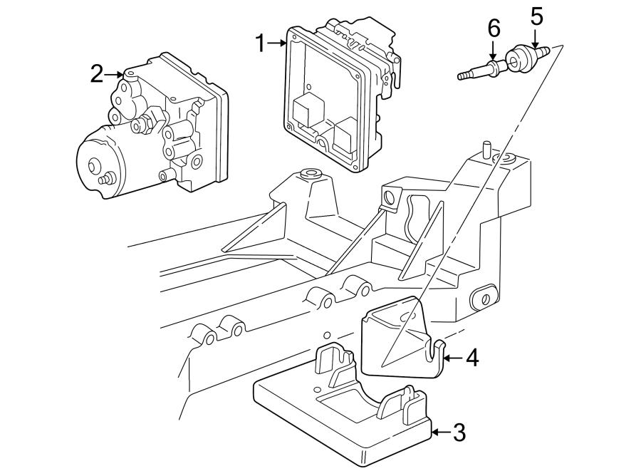 Chevrolet Corvette Abs control module. Abs control module