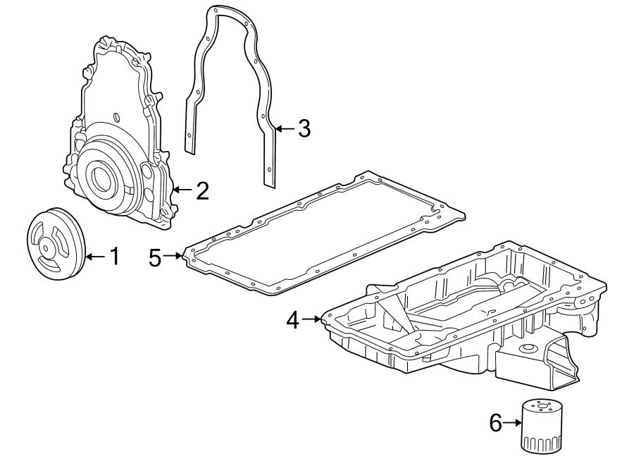Chevrolet Corvette Engine Oil Pan Gasket. Corvette; Lower