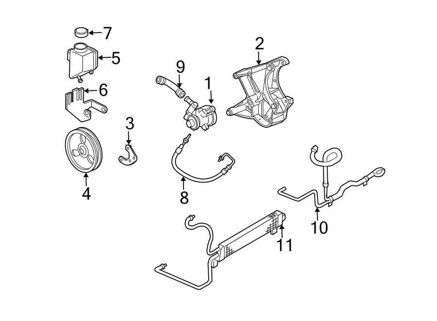 Chevrolet Corvette Power Steering Pressure Hose. HOSES