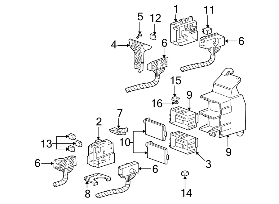 Chevrolet Monte Carlo Fuse AND relay box connector. Fuse