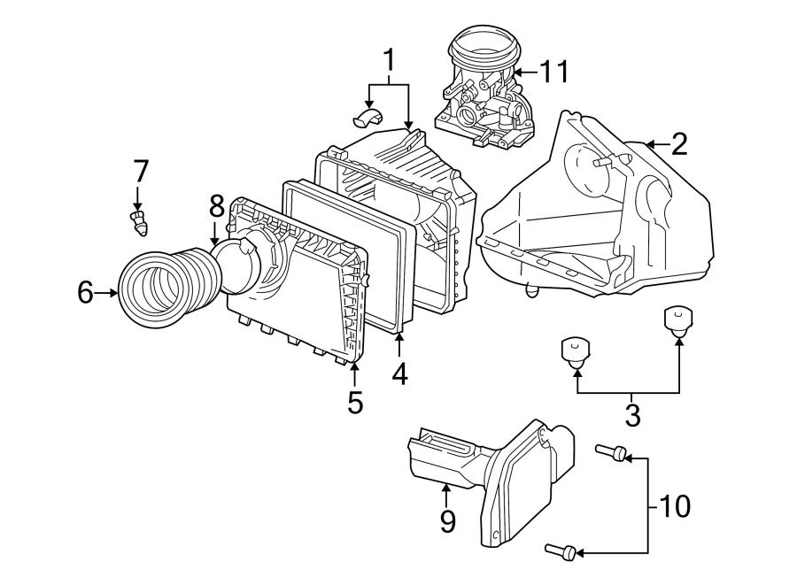 Chevrolet Lumina Mass Air Flow Sensor. Mass Air Flow