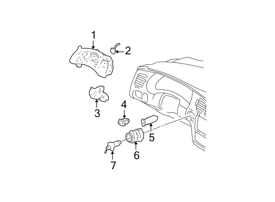 Chevrolet Monte Carlo Trunk Lid Release Switch. Impala