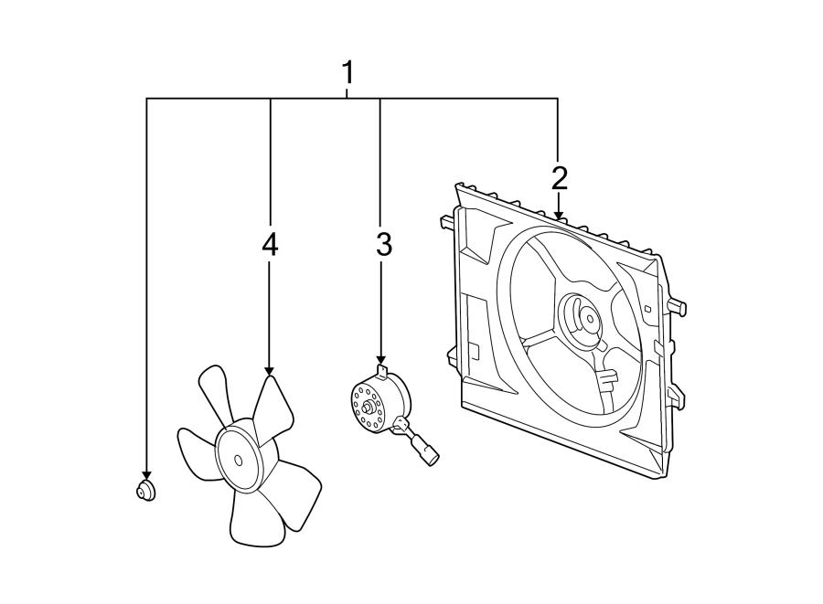 Chevrolet HHR Engine Cooling Fan Shroud. RADIATOR, Make