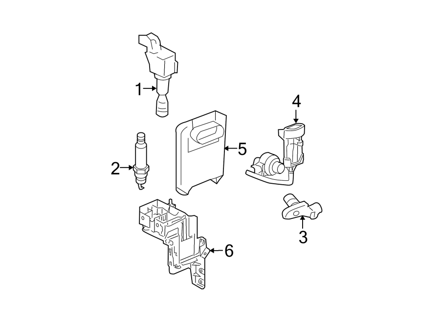Chevrolet HHR Engine Control Module. 2.0 liter. 2.0 LITER