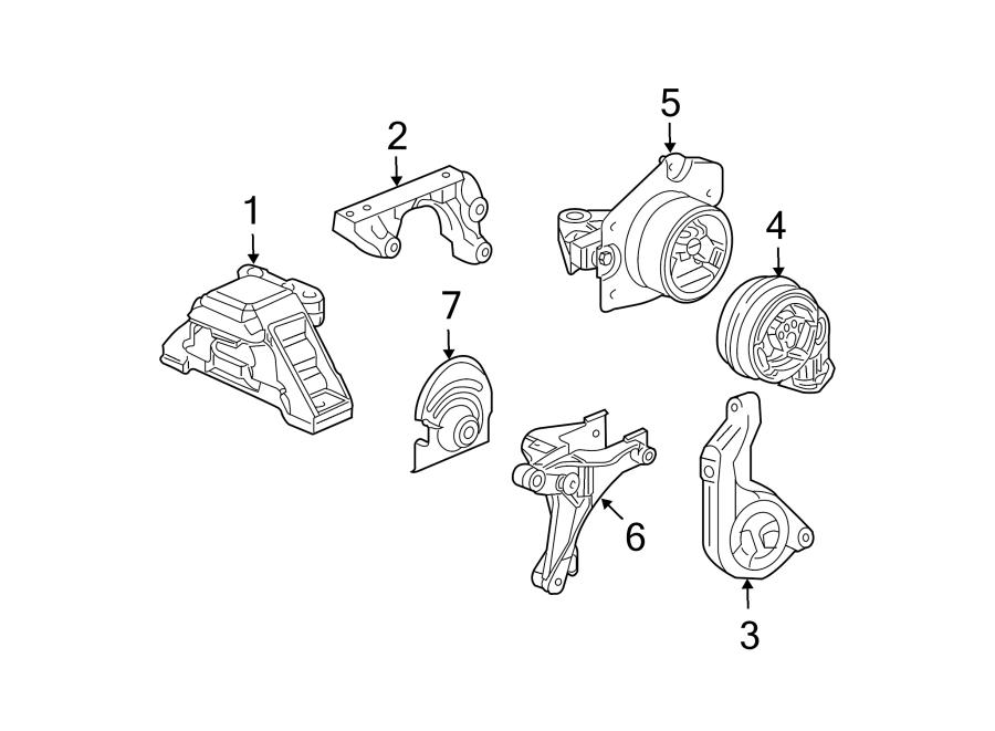 Chevrolet HHR Automatic Transmission Mount (Upper