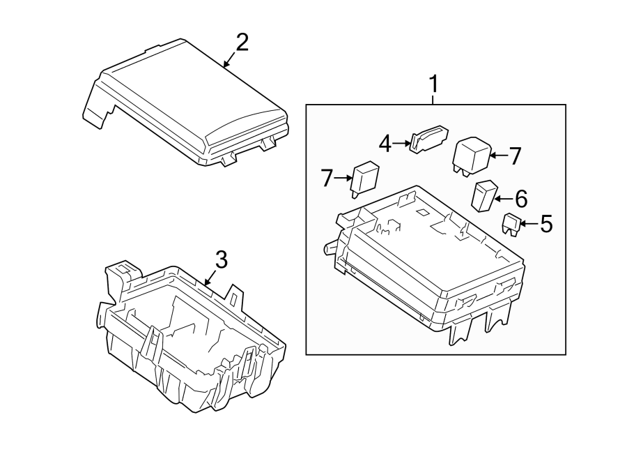 Chevrolet Sonic Fuse Box Cover. 1.8 liter. 1.8 liter, w/o