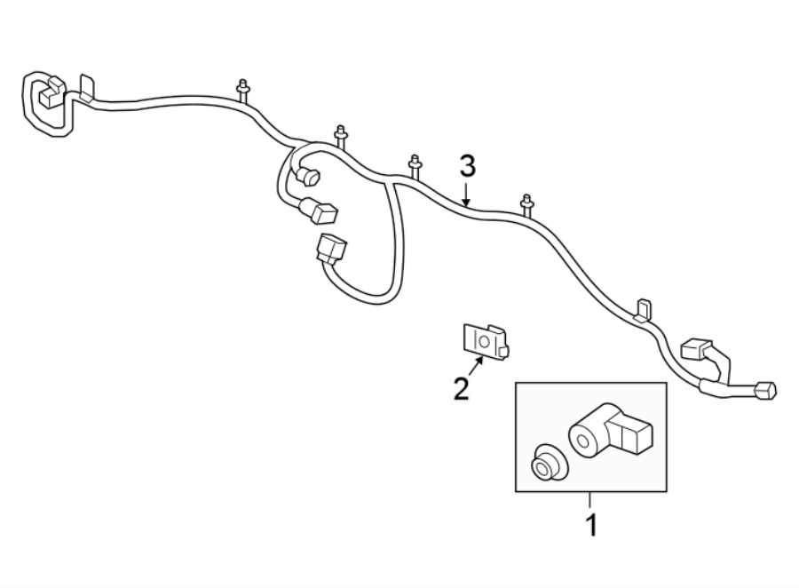 Chevrolet Sonic Parking Aid System Wiring Harness (Rear