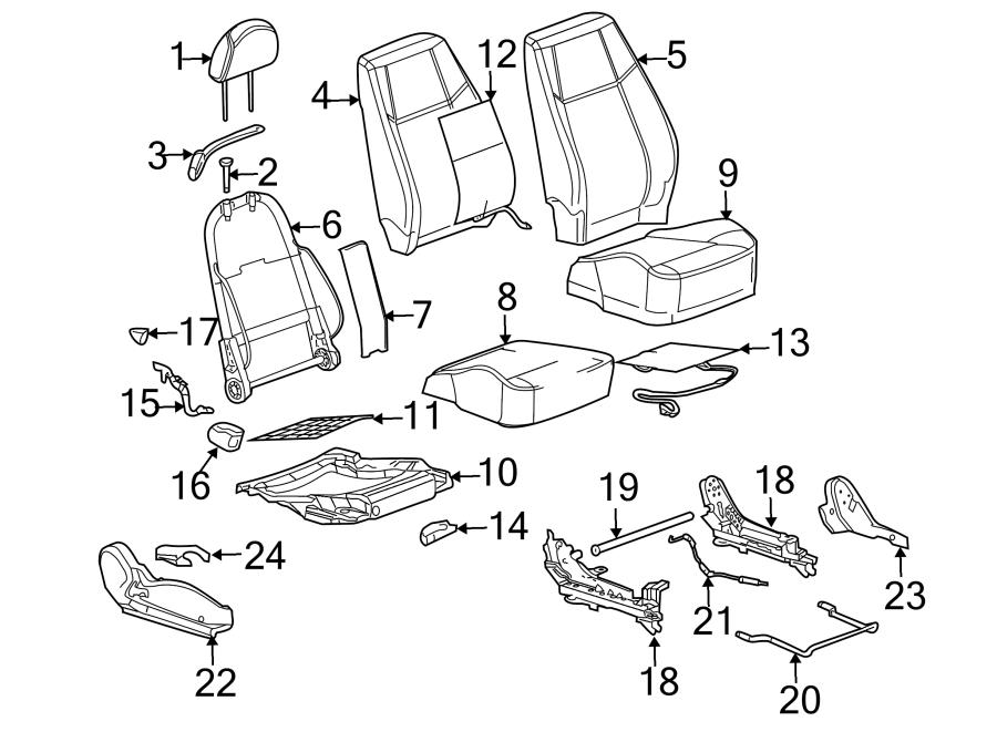 Chevrolet Cobalt Seat Belt Guide (Upper). PASSENGER SEAT