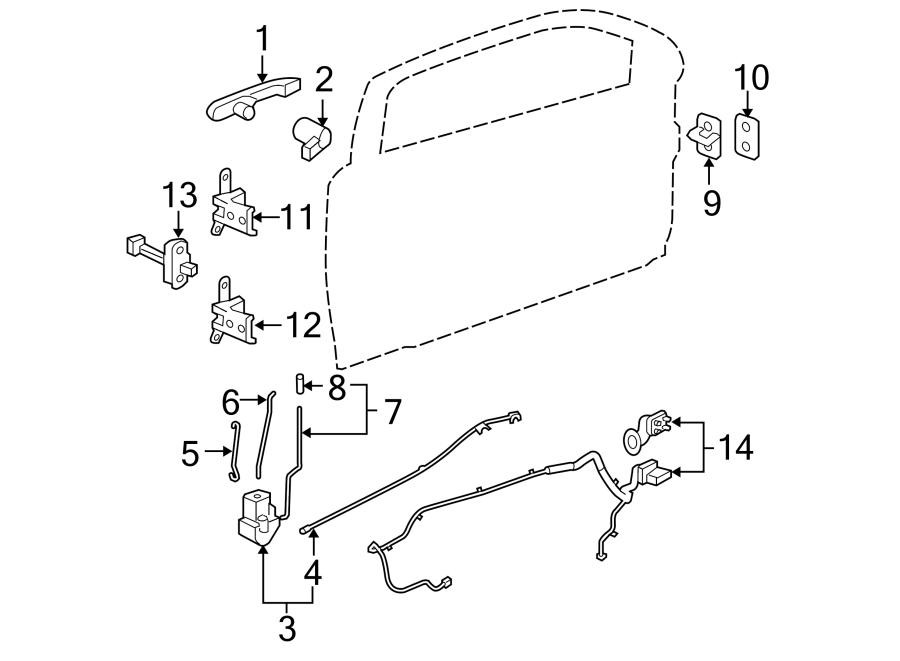 Chevrolet Cobalt Door Wiring Harness (Front). COUPE