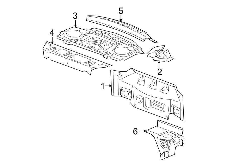 Chevrolet Cobalt Rear Body Panel (Rear, Upper). COUPE