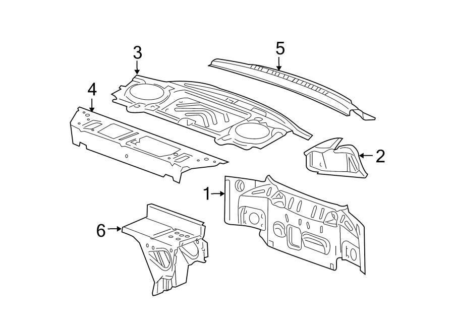 Chevrolet Cobalt Rear Body Panel (Rear, Upper). SEDAN