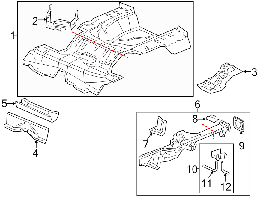 Chevrolet Cobalt Floor Side Rail Reinforcement (Rear