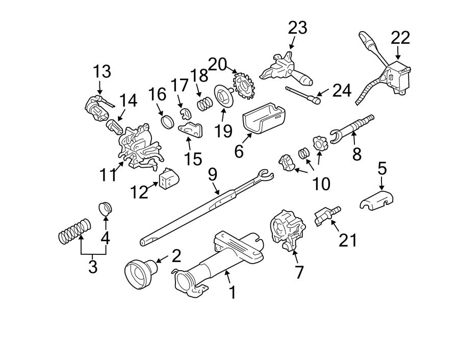 Chevrolet Cavalier Lock housing. Retainer. Tilt, Steering