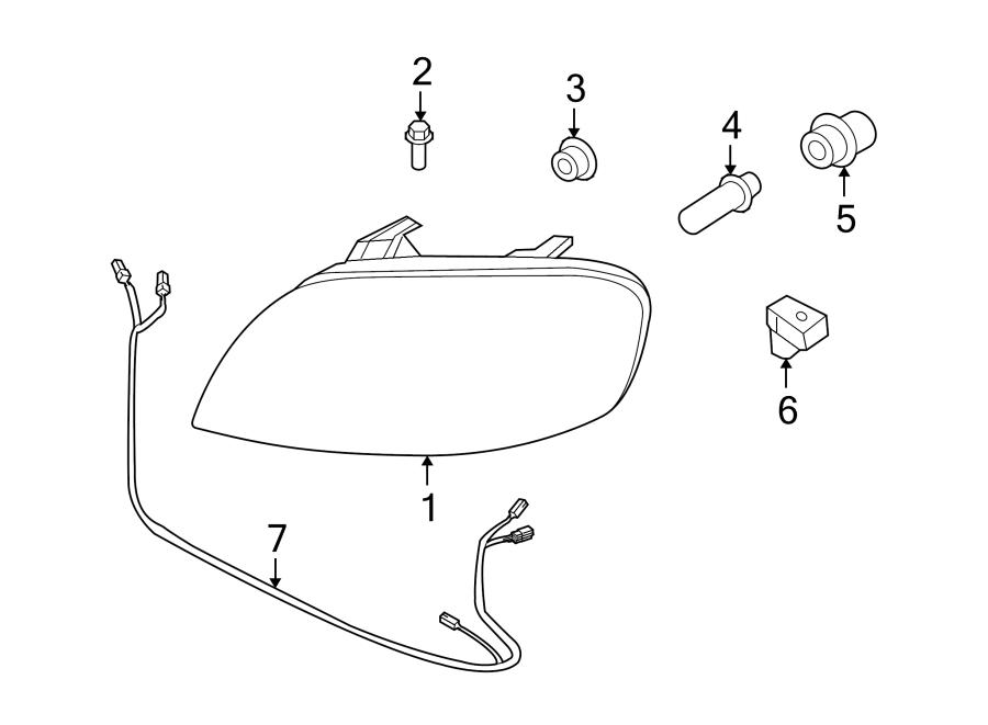 Chevrolet Aveo Headlight Wiring Harness. SEDAN,. Front