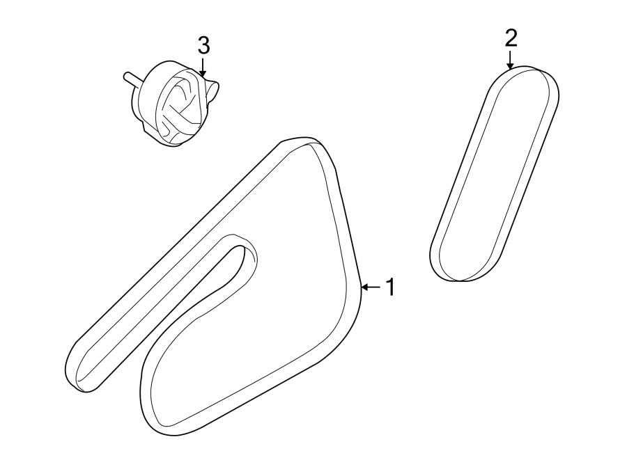 Chevrolet Aveo Accessory Drive Belt Tensioner Assembly