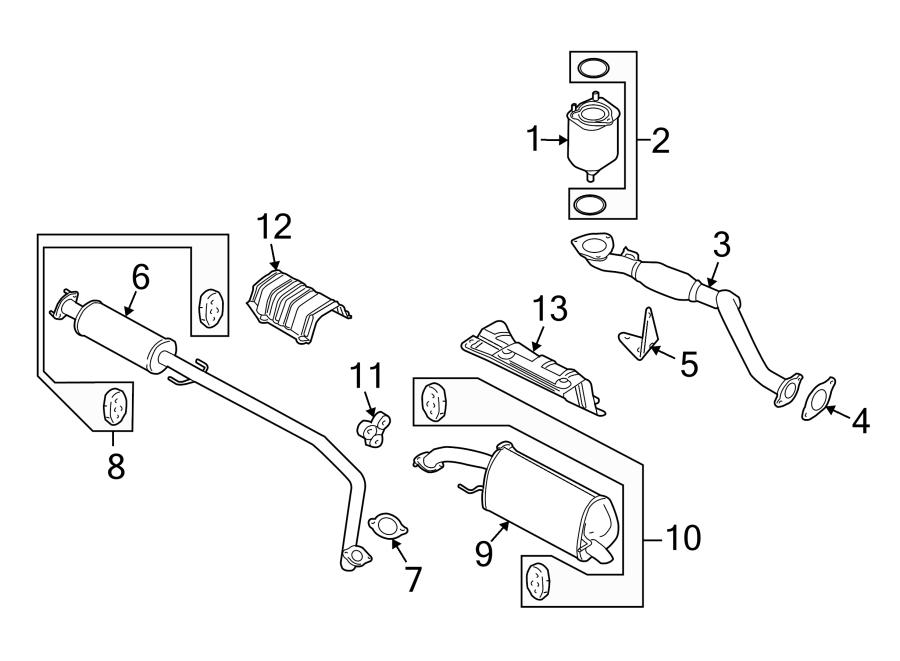 Chevrolet Aveo Exhaust Muffler (Rear). Aveo, Aveo5