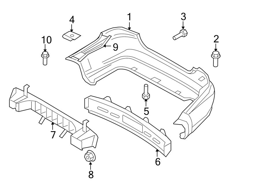 Chevrolet Aveo Bumper Cover Retainer. SEDAN,. Rear