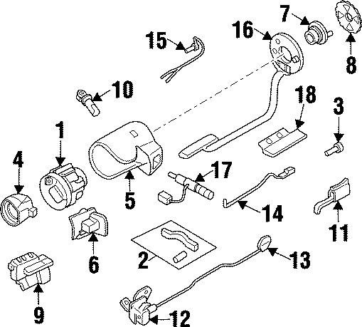 Chevrolet Beretta Ignition rack. Lock rack kit. Rack