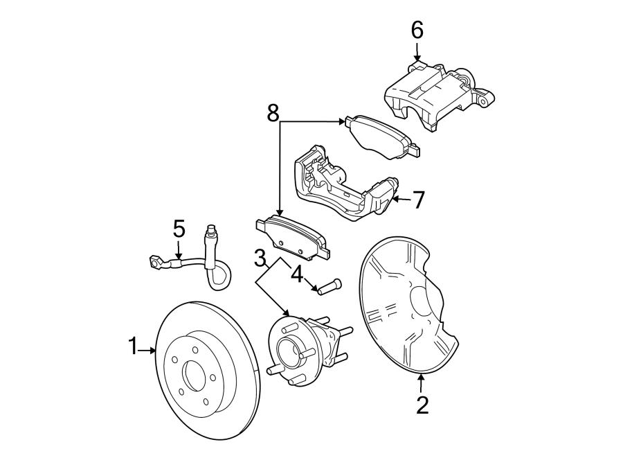 Chevrolet Malibu Disc Brake Caliper Bracket (Right, Rear