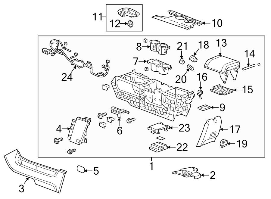 Chevrolet Malibu Console Bracket. LS MODEL, 2013. LT, LTZ