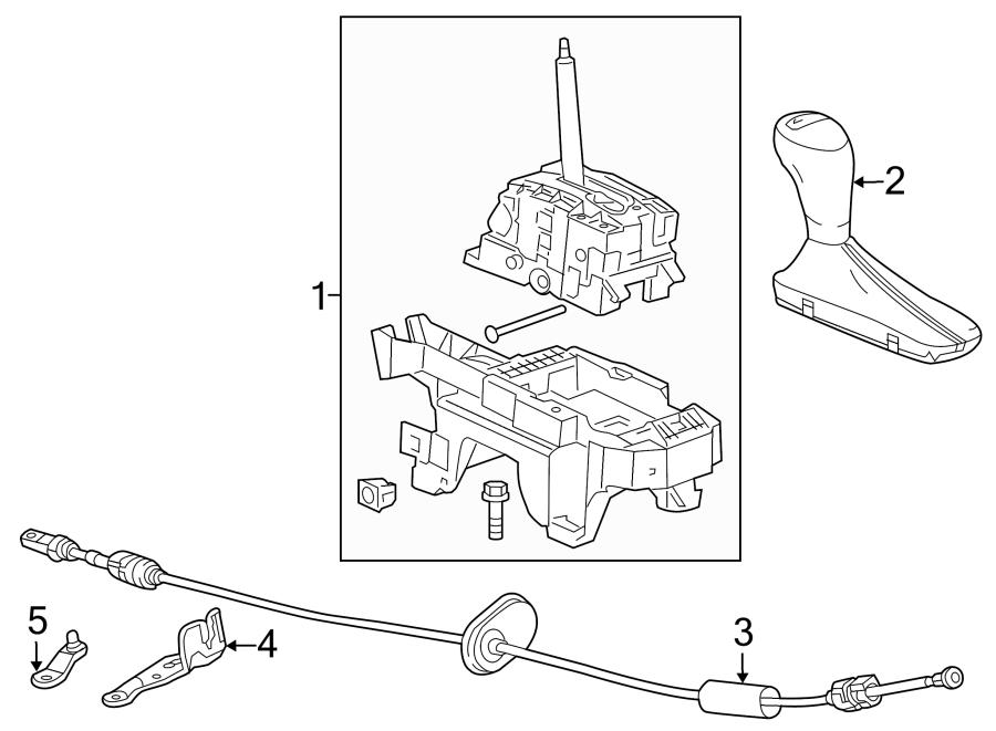 Chevrolet Malibu Automatic Transmission Shifter Linkage