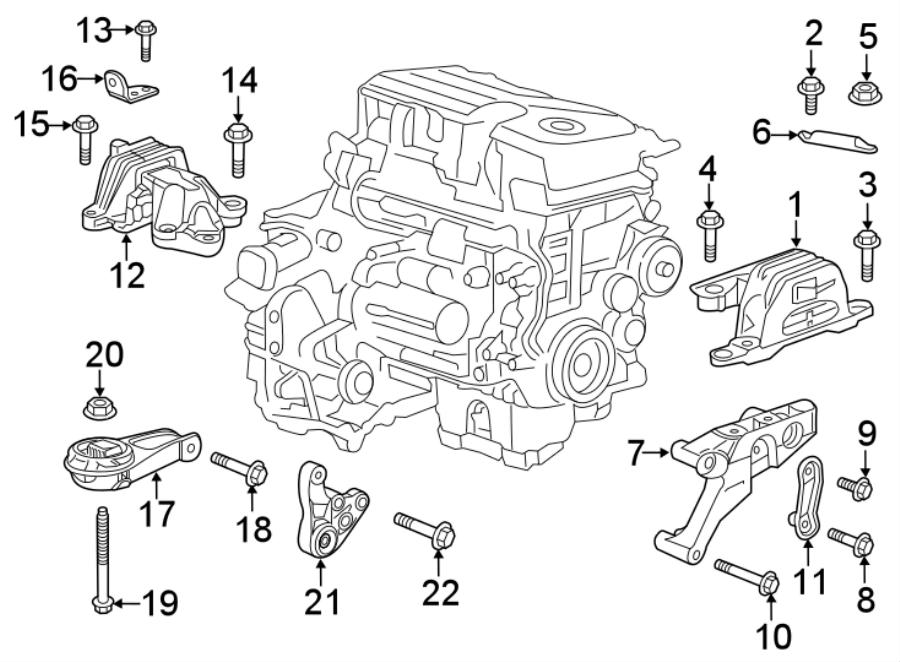 Chevrolet Malibu Engine Mount Bracket. 1.5 LITER TURBO