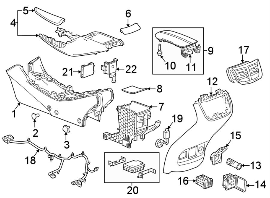 Chevrolet Malibu Console Trim Panel. CONSOLE & COMPONENTS