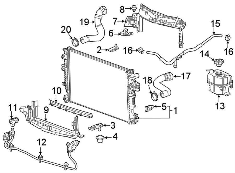 Chevrolet Malibu Radiator Coolant Hose (Lower). 1.8 LITER
